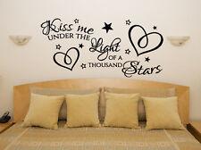 Kiss Me Under The Light Of A Thousand Stars Ed Sheeran Decal Wall Art Sticker