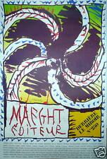Alechinky Pierre Affiche originale 1982 Art Abstrait Cobra Abstraction dlm