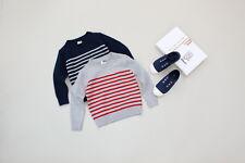 New Childrens Kids Winter Junior Jumper Knitted Sweater Assorted Stripes Design