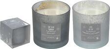 Large Christmas Candle in Glass Holder Fresh Winter Fragrance Air Freshener
