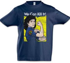 Ripley We Can Kill It Kids Boys T-Shirt Prometheus Nostromo Face Hugger Alien