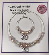 Wine Champagne Bottle & Glass Charm 25 30 40 50,60 65 birthday Gift Pink