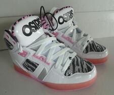 Osiris Shoes NYC 83  Slm - Ladies High Top Skate  -  White/Zebra/Pink -US Sizing