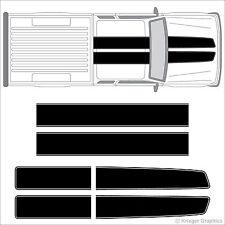 Ford Ranger EZ Rally Racing Stripes 3M Vinyl Stripe Decals Graphics