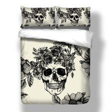Skull Flower Tattoo Distinctive Duvet Cover Quilt Cover Pillow Cases Bedding Set
