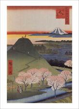 Hiroshige-LA NUOVA FUJI in Meguro-fine art print poster-Varie Taglie