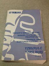 Revue Technique Manuel d'atelier du propriétaire Yamaha YZ85 (R)/LC YZ85LW(R)