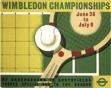 VINTAGE 1939 Wimbledon Tennis Championships POSTER a3 stampa