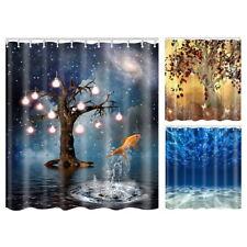 NEW Modern Ocean Print Shower Waterproof Bathroom Curtains Bath 180cm Curtain