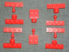 LEGO 10 x Technic Auto a cerniera Ball & socket Giunti Piastra Rosso