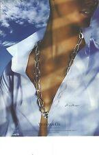 PUBLICITE ADVERTISING    2006  TIFFANY & CO joaillerie bijoux le pendentif