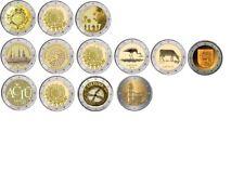 Estonia, Latvia & Lithuania 2 euro  coins 2012,  2014, 2015, 2016, 2017 UNC  FDC