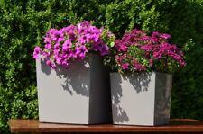 Pflanzkübel Lea grau zement 29x29 cm Pflanztopf Blumentopf Blumenkübel eckig neu