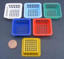 1:12 Scale Small Size Tumdee Dolls House Plastic Basket Kitchen Deep Accessory