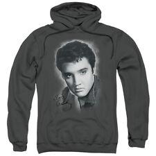 Elvis Grey Portrait Pullover Hoodies for Men or Kids