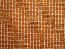 Orange Homespun Fabric | Primitive Cotton Fabric | Window Pane Plaid Fabric