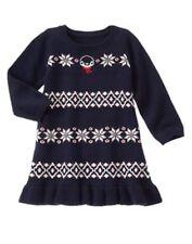 NWT Gymboree Holiday Shop Blue Fair Isle Snowflake Dress 12-18 24 mo 3T 5T