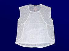 modernes Damenshirt T.-Shirt Blusenshirt leicht tansparent Gr. 40-48 wollweiß