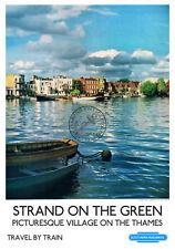 Strand on the Green VINTAGE RAILWAY POSTER Travel ART PRINT River Thames London