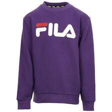 Vêtement Sweats Fila unisexe Classic Logo Crew Kids taille Violet Coton
