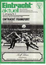 BL 83/84 Eintracht Braunschweig - Eintracht Frankfurt