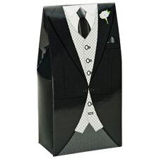 BLACK MORNING SUIT MENS TUXEDO WEDDING DIY FAVOUR BOXES PARTY BOX BOXES