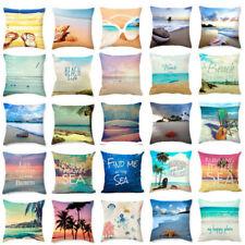 """18x18"""" Beach Starfish Cotton Linen Pillow Case Cushion Cover Fashion Home Decor"""