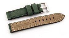 Relojes pulsera-hebilla-cuero, extra fuerte, resistente al agua verde oscuro 28mm26mm24mm