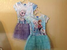 NEW Disney FROZEN ELSA, ANA, OLAF  TUTU DRESS Girl size S(6/6X) M(7/8) L(10/12)