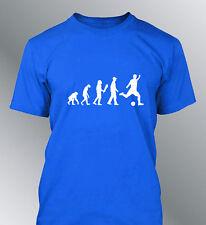 Tee shirt personnalise homme evolution FOOT M L XL humour human sport football