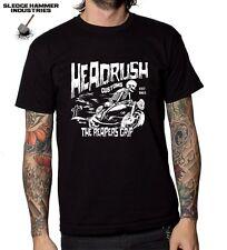 HEADRUSH CUSTOMS MOTORCYCLE T SHIRT , Men's T Shirt ,CAFE RACER, BOBBER, CUSTOM