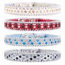 1 Rosa Brillante Collar de perro azul negro o rojo Bling Glitter Diamante Diamante como