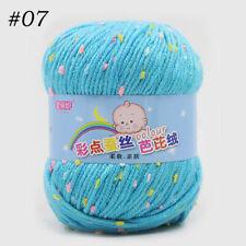 Smooth Soft Cotton Baby Silk Yarn Wool Ball Hand Crochet Socks Clothes 50g