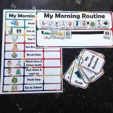 Routine du matin chart cartes autisme asd sen educational visuel de rappel