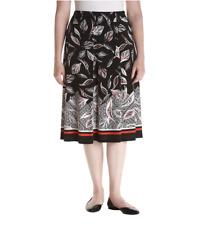 ALFRED DUNNER Plus Size 1X Saratoga Springs Leaf Print Border Skirt NWT $60
