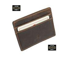 Cactus Slim engrasado titular de la tarjeta de crédito de Cuero con Protección RFID 626 _ 81