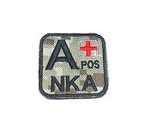 ACU DIGITAL CAMO BLOOD TYPE NKA NKDA ARMY MILITARY EMBROIDERED PATCH 5 X 5 CM