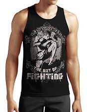 Art of Fighting Tank Top neu Fight MMA Boxen Muay Thai Sport Kick Boxing Fun War