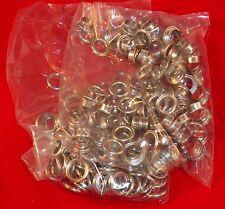 100 Stück Ösen mit Scheiben 8mm gold, silber, brüniert
