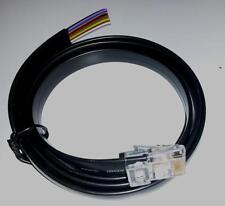 FLAT BLK RJ48/50 10CORE 10PIN 10C10P CABLE - VARIOUS LENGTH 1M 2M 3M 5M 10M