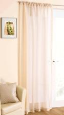 Sparkle Glitter Cream Voile Curtain Panel Net Curtains Slot Top Rod Pocket Sheer