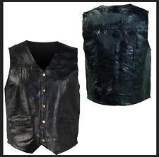 jacket en cuir sans manche - S M L XL 2XL 3XL 4XL 5XL 6XL 7XL -  Biker / country