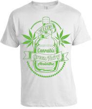 El Cannabis Absenta Camiseta Hombre Mujer Regalo De Navidad Verde Hierba Humo De Alta