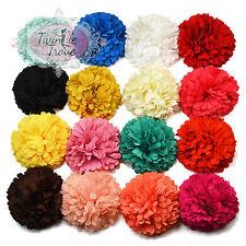 6cm Pastel Tone Pompom Flower Hair Clips or Bobbles. Bridesmaid Wedding Bridal