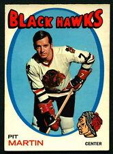 1971 72 OPC O PEE CHEE #39 PIT MARTIN EX-NM CHICAGO BLACK HAWKS HOCKEY CARD