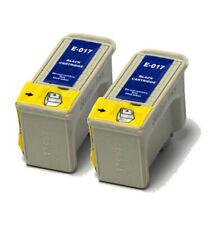 2x negro compatible (no Oem) Cartuchos de tinta para reemplazar T017 Girasol