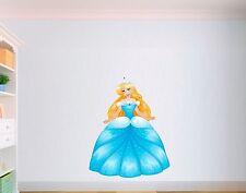 Princess Cartoon Nursery Girls Disney Child Bedroom Vinyl Wall Art Sticker LSPR1