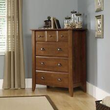 4 Drawer Oak Finish Wooden Chest of Drawers Fine Cabinet Storage Modern Dresser