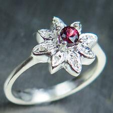 Natural Red Spinel & diamonds 925 silver /9ct 14k 18k Gold Platinum ring
