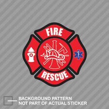 Firefighter Canadian Flag Decal Fire Rescue Canada EMS Vinyl Sticker EVM
